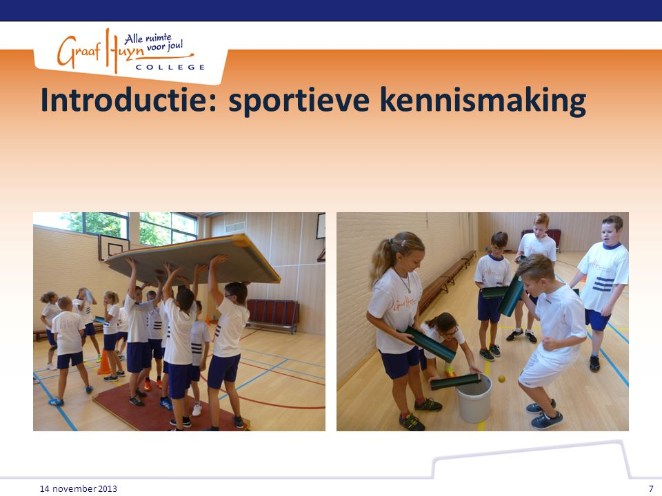 Introductie: sportieve kennismaking