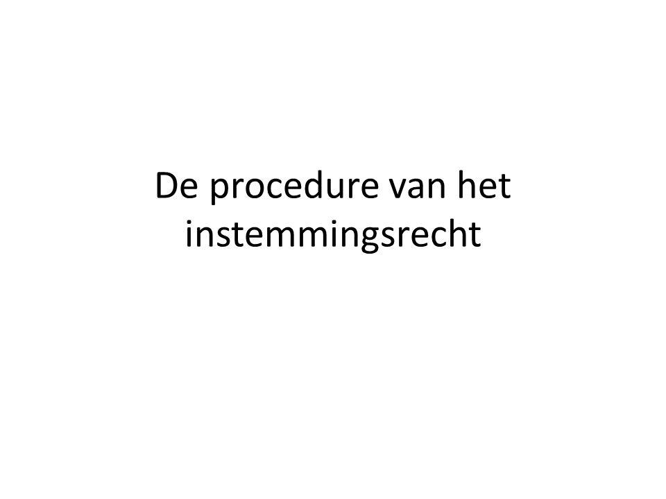 De procedure van het instemmingsrecht