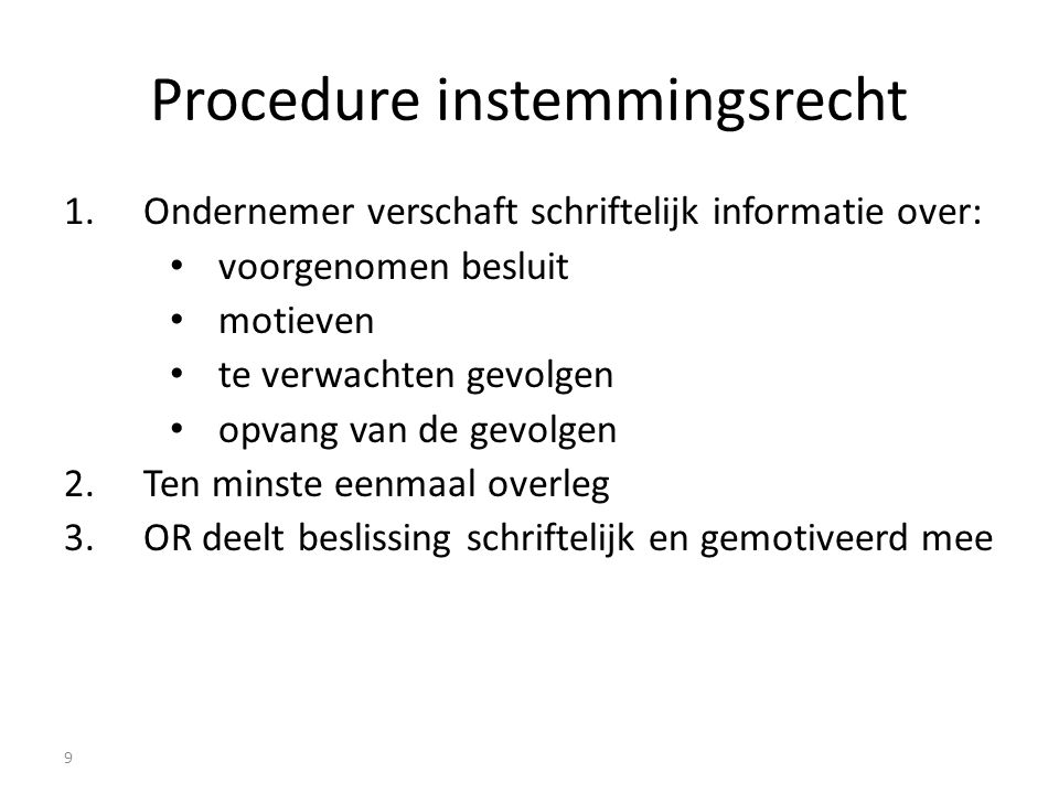 Procedure instemmingsrecht