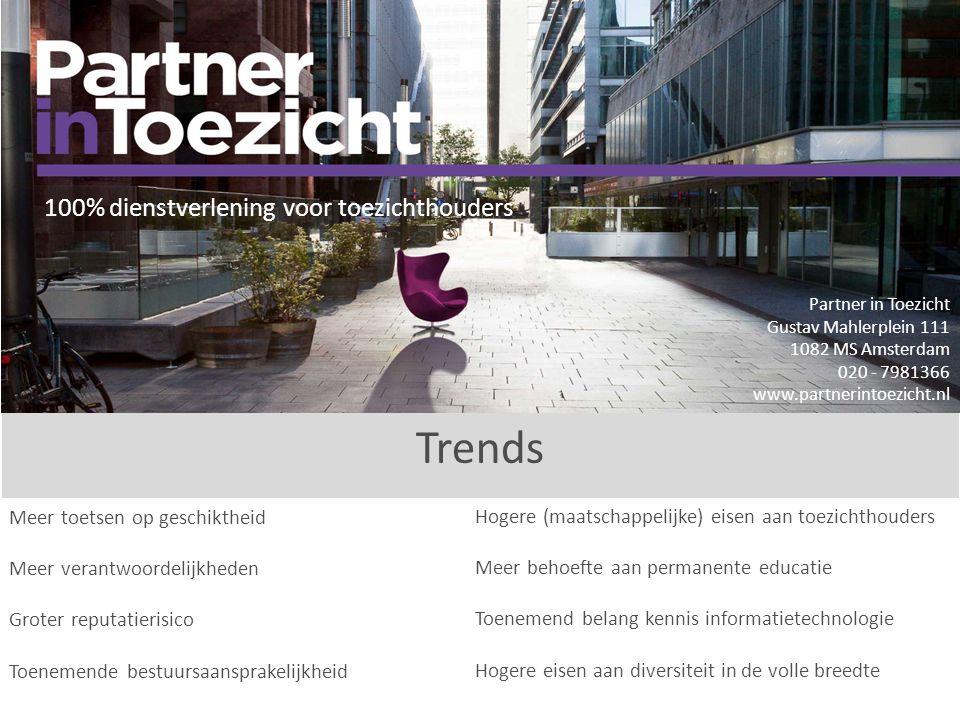Trends 100% dienstverlening voor toezichthouders