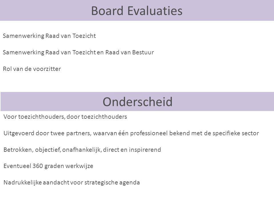 Board Evaluaties Onderscheid Samenwerking Raad van Toezicht