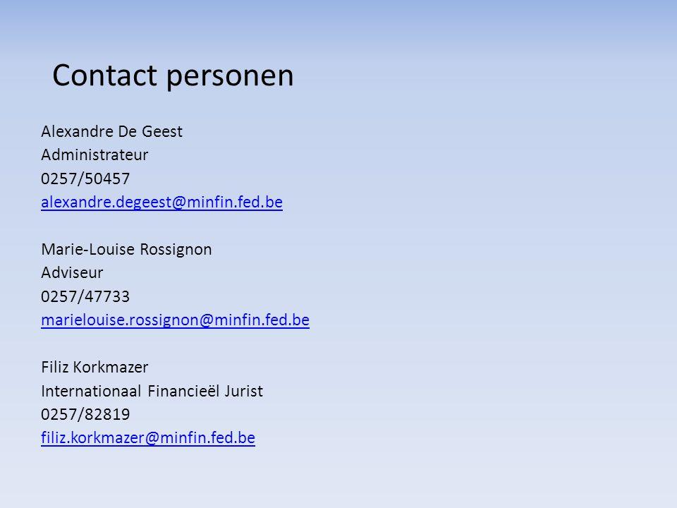 Contact personen