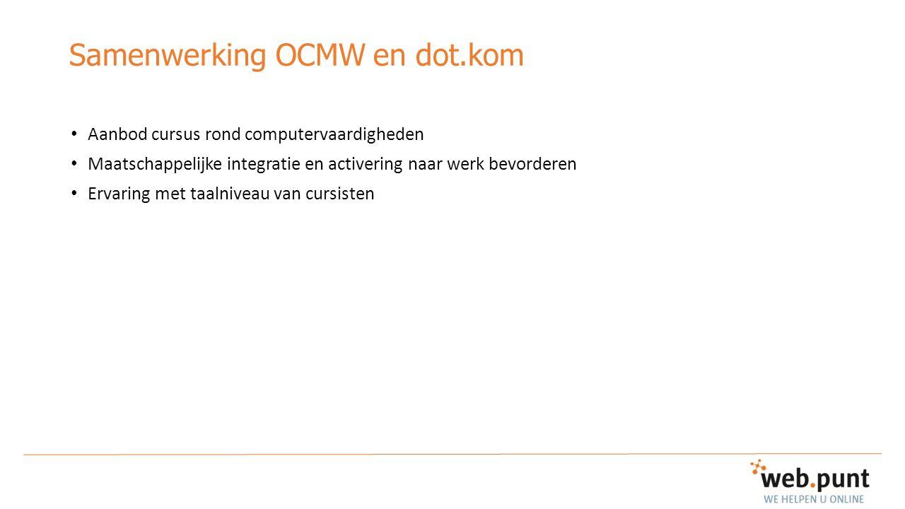 Samenwerking OCMW en dot.kom