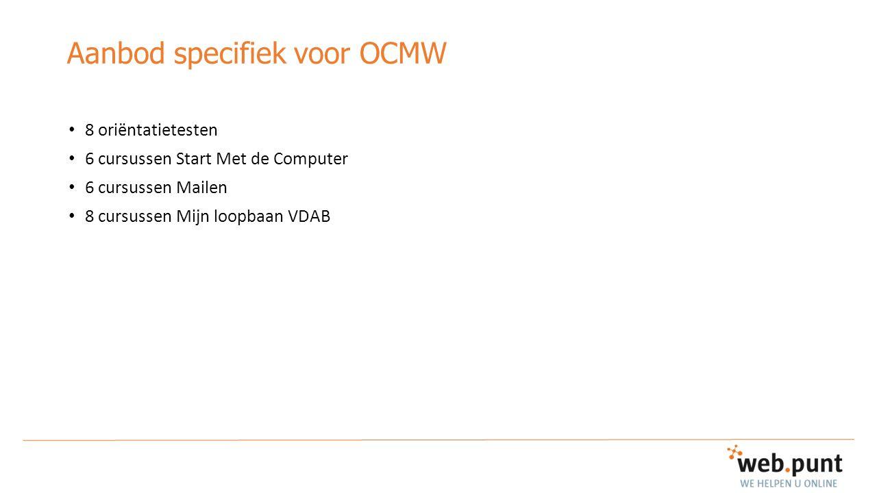 Aanbod specifiek voor OCMW