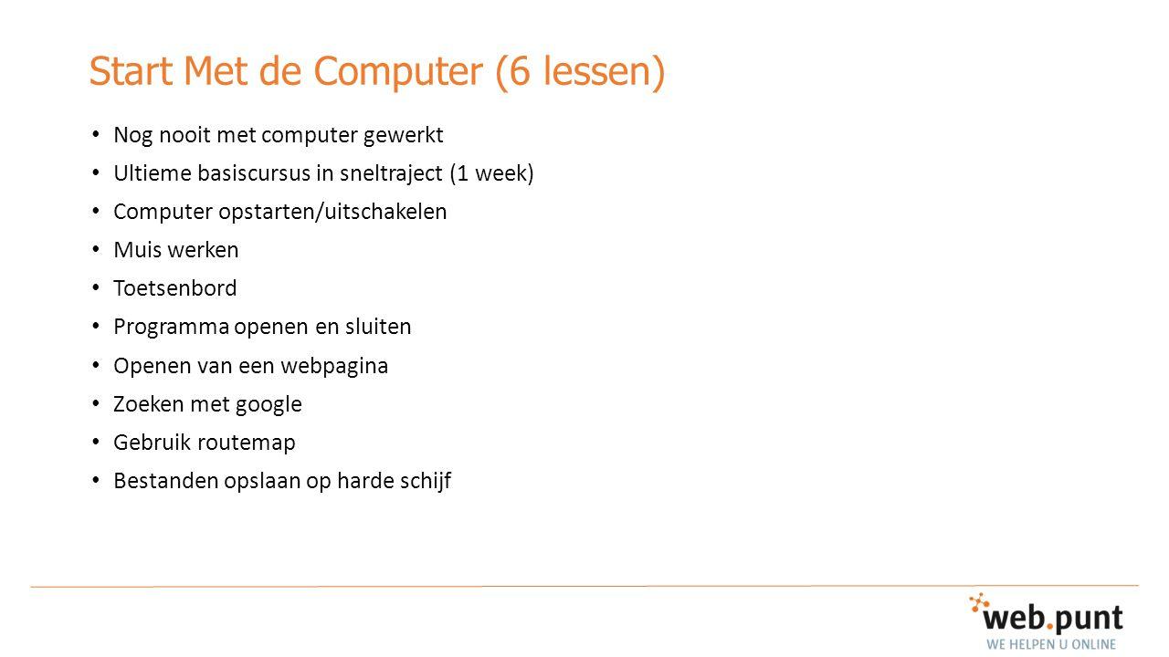 Start Met de Computer (6 lessen)