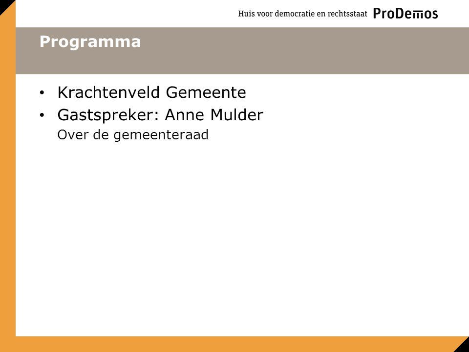 Krachtenveld Gemeente Gastspreker: Anne Mulder