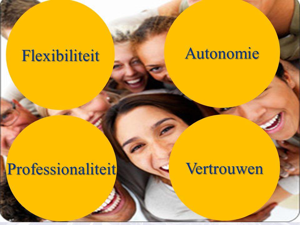 Autonomie Flexibiliteit Professionaliteit Vertrouwen