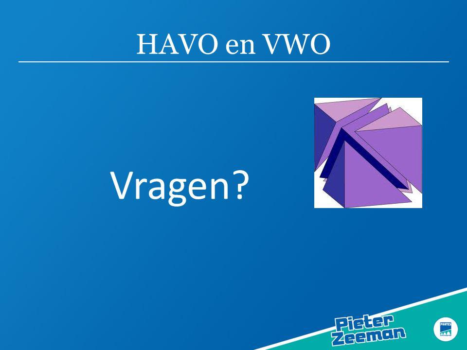 HAVO en VWO Vragen