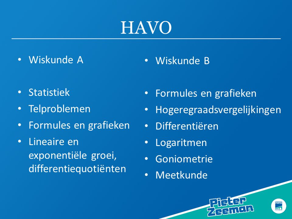 HAVO Wiskunde A Wiskunde B Statistiek Formules en grafieken
