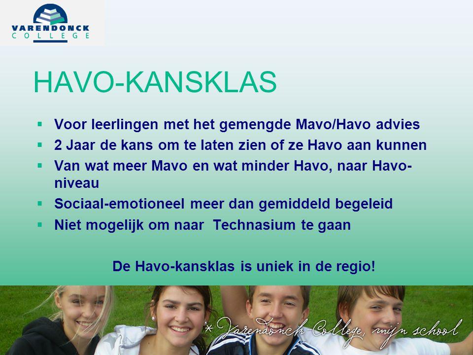 De Havo-kansklas is uniek in de regio!