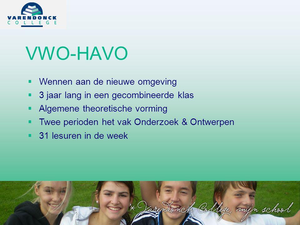 VWO-HAVO Wennen aan de nieuwe omgeving