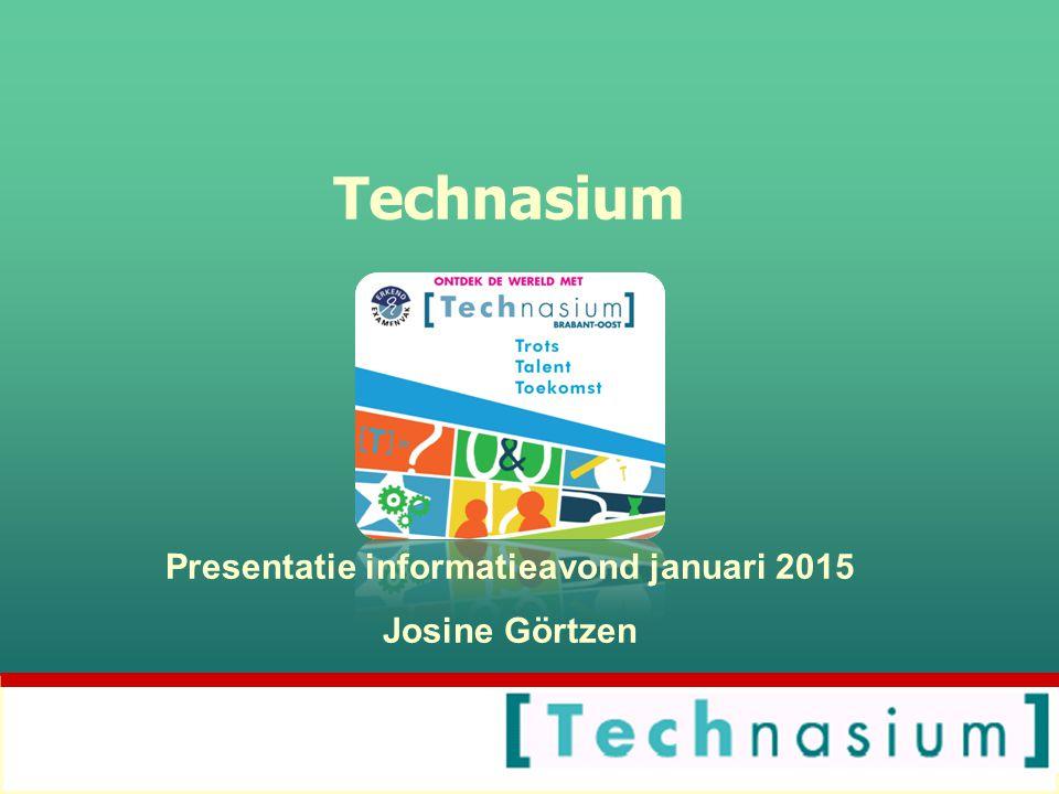 Presentatie informatieavond januari 2015