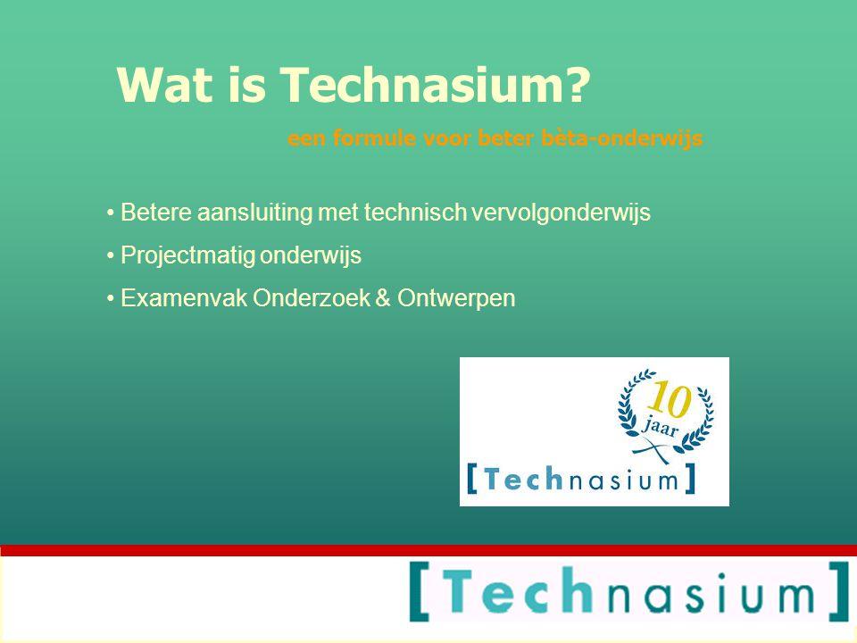 Wat is Technasium Betere aansluiting met technisch vervolgonderwijs