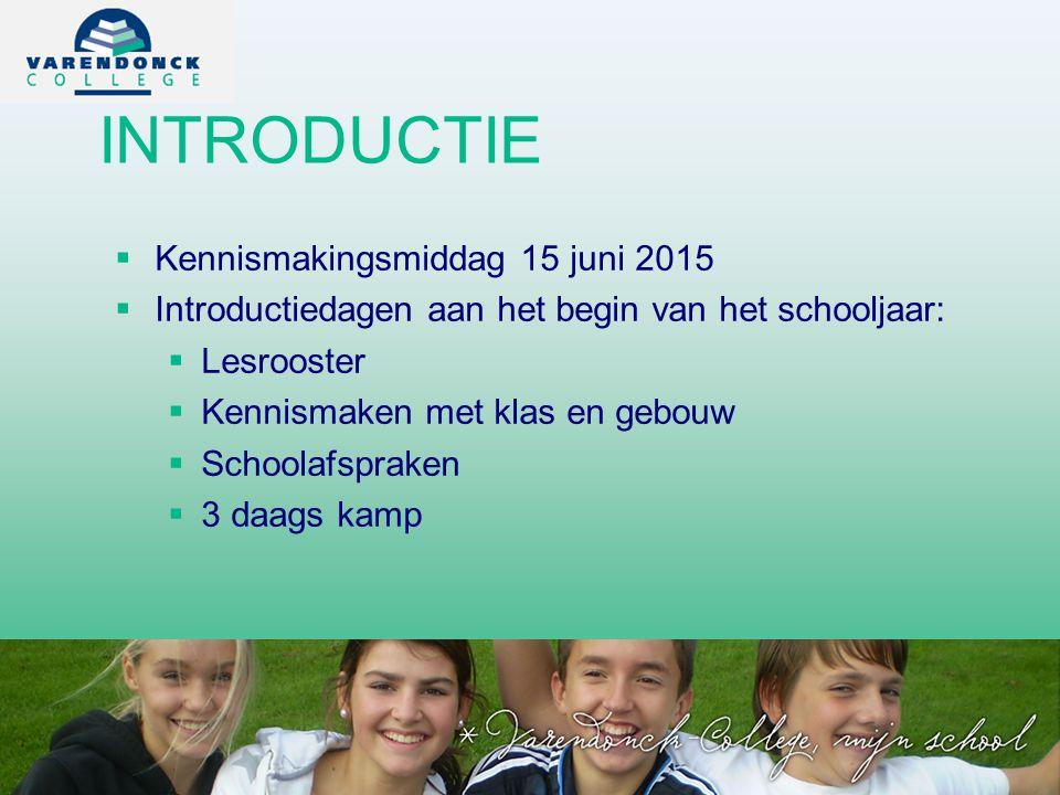 INTRODUCTIE Kennismakingsmiddag 15 juni 2015