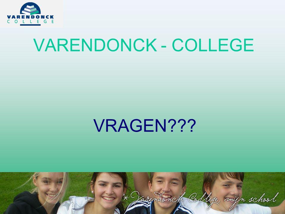 VARENDONCK - COLLEGE VRAGEN