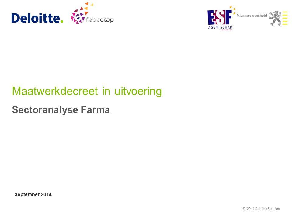 Maatwerkdecreet in uitvoering Sectoranalyse Farma