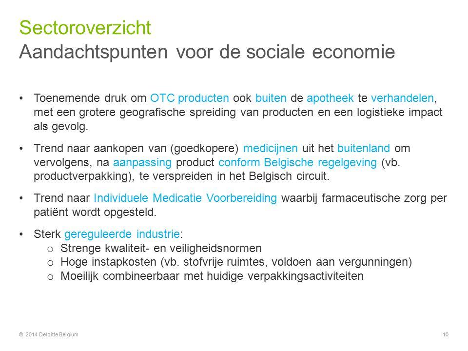 Aandachtspunten voor de sociale economie
