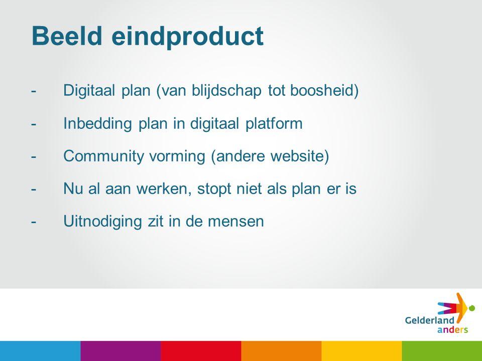 Beeld eindproduct Digitaal plan (van blijdschap tot boosheid)
