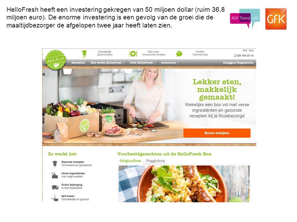 HelloFresh heeft een investering gekregen van 50 miljoen dollar (ruim 36,8 miljoen euro).