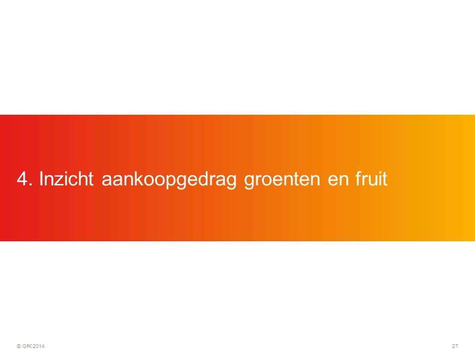 4. Inzicht aankoopgedrag groenten en fruit