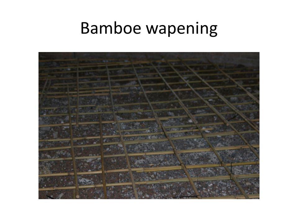 Bamboe wapening