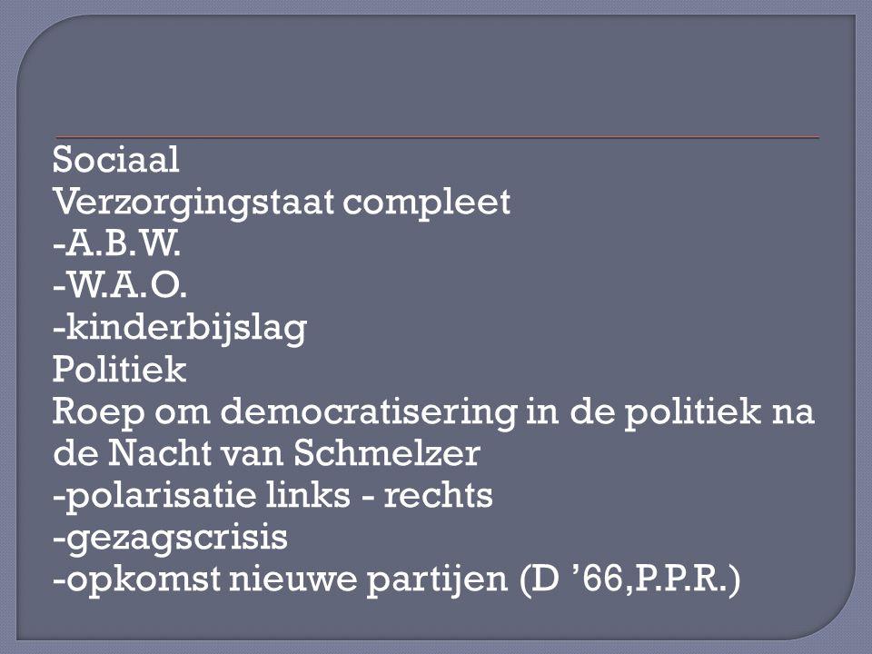 Sociaal Verzorgingstaat compleet -A. B. W. -W. A. O