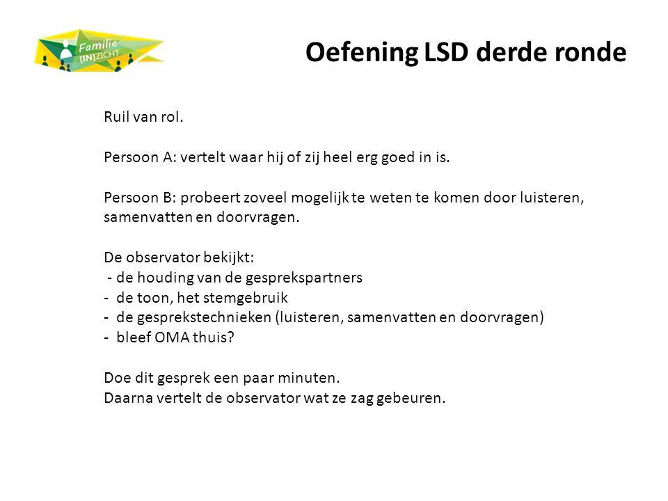 Oefening LSD derde ronde