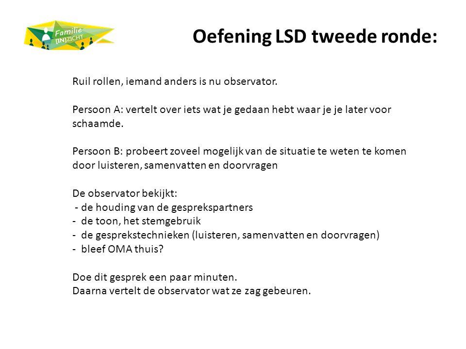 Oefening LSD tweede ronde: