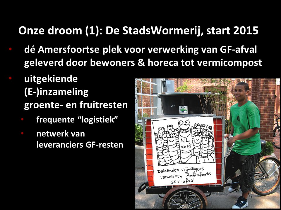 Onze droom (1): De StadsWormerij, start 2015
