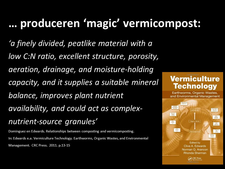 … produceren 'magic' vermicompost: