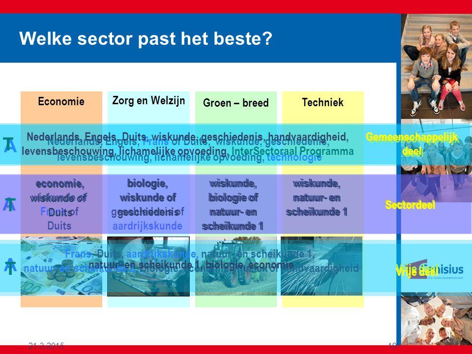 Welke sector past het beste