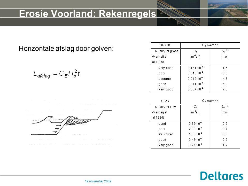 Erosie Voorland: Rekenregels