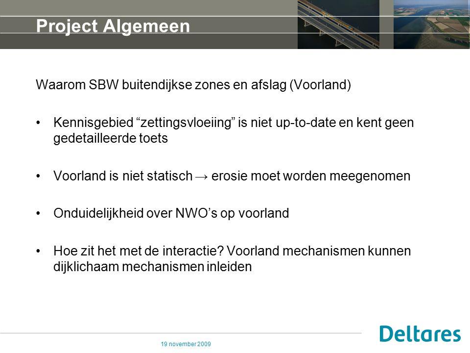 Project Algemeen Waarom SBW buitendijkse zones en afslag (Voorland)