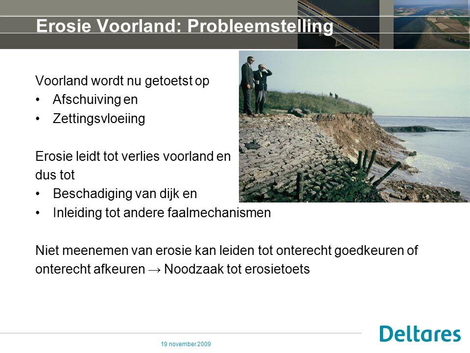 Erosie Voorland: Probleemstelling