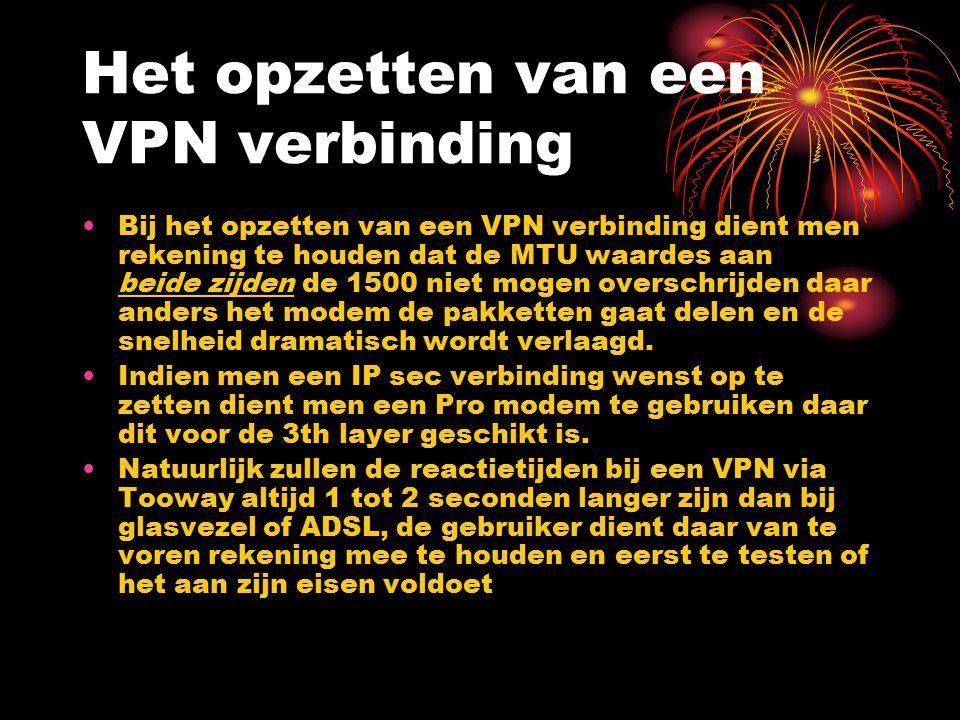 Het opzetten van een VPN verbinding