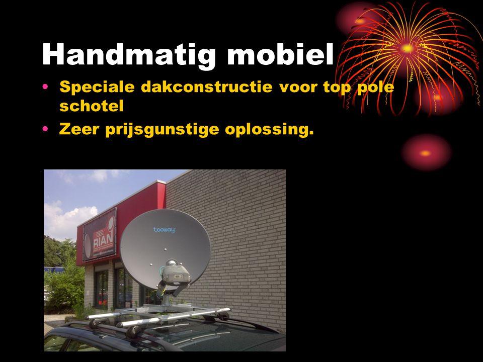 Handmatig mobiel Speciale dakconstructie voor top pole schotel