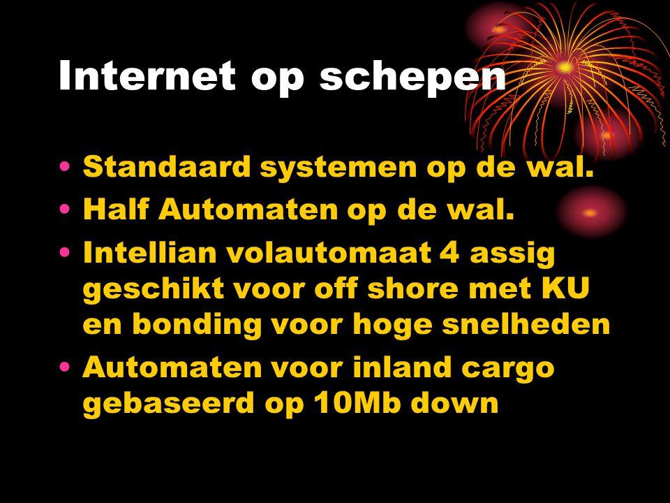 Internet op schepen Standaard systemen op de wal.