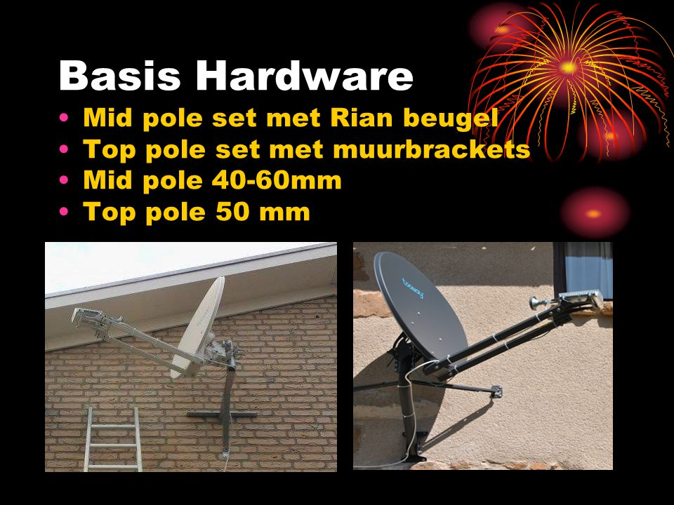 Basis Hardware Mid pole set met Rian beugel