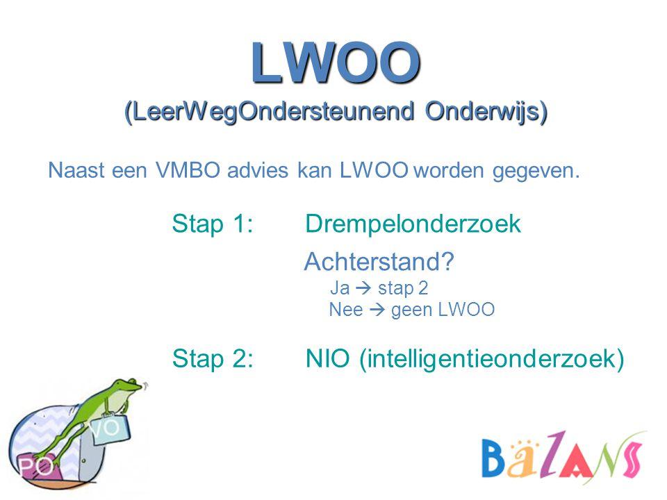 LWOO (LeerWegOndersteunend Onderwijs) Stap 1: Drempelonderzoek