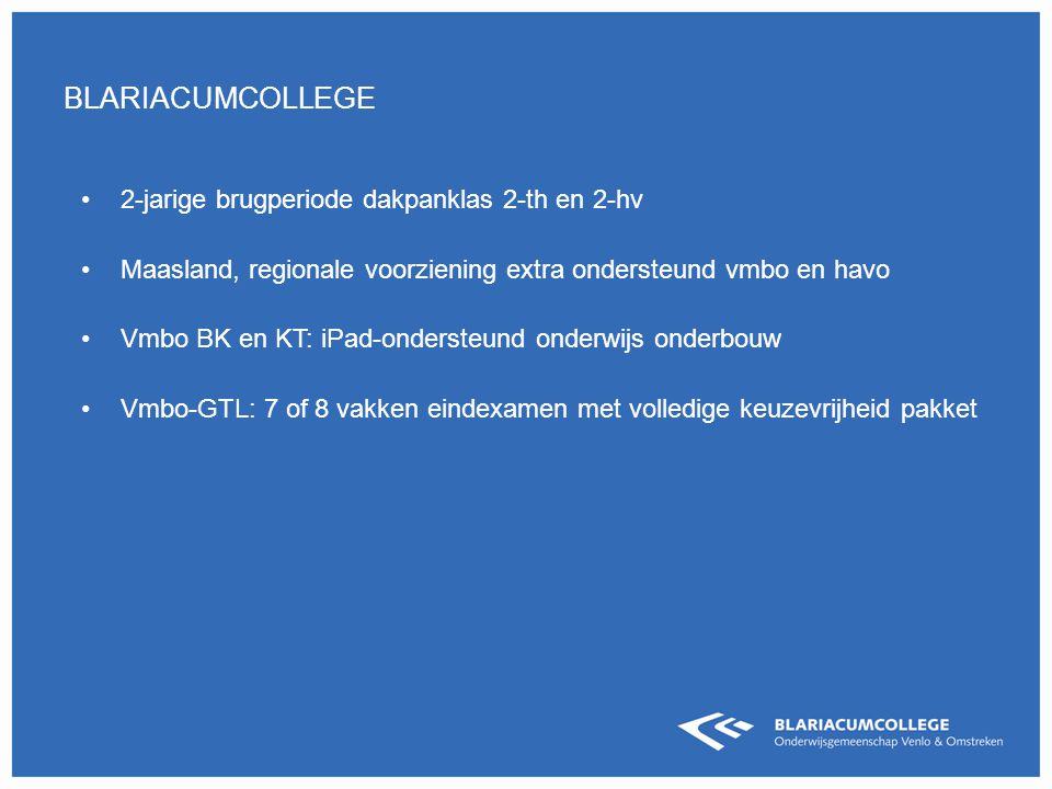 blariacumcollege 2-jarige brugperiode dakpanklas 2-th en 2-hv