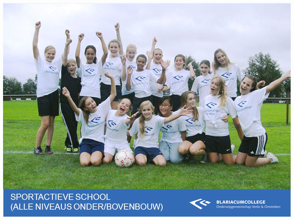 Sportactieve school (ALLE NIVEAUS ONDER/BOVEnBOUW)