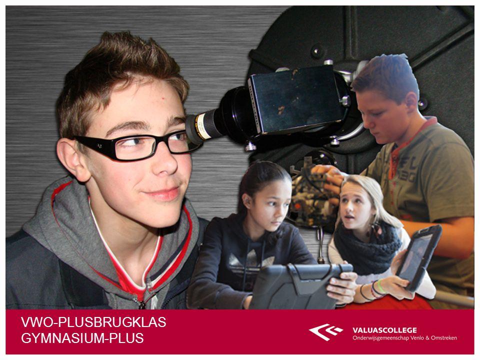 Vwo-plusbrugklas Gymnasium-plus
