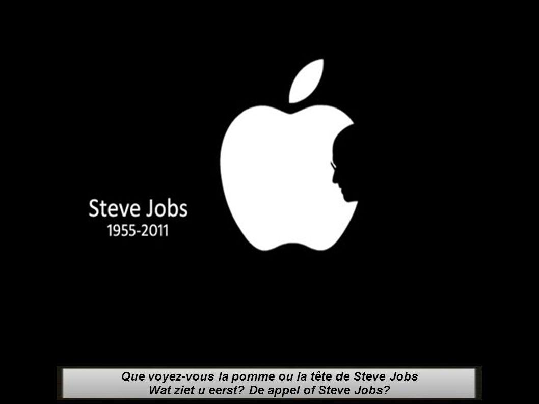 Que voyez-vous la pomme ou la tête de Steve Jobs