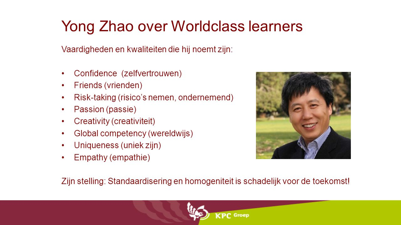 Yong Zhao over Worldclass learners