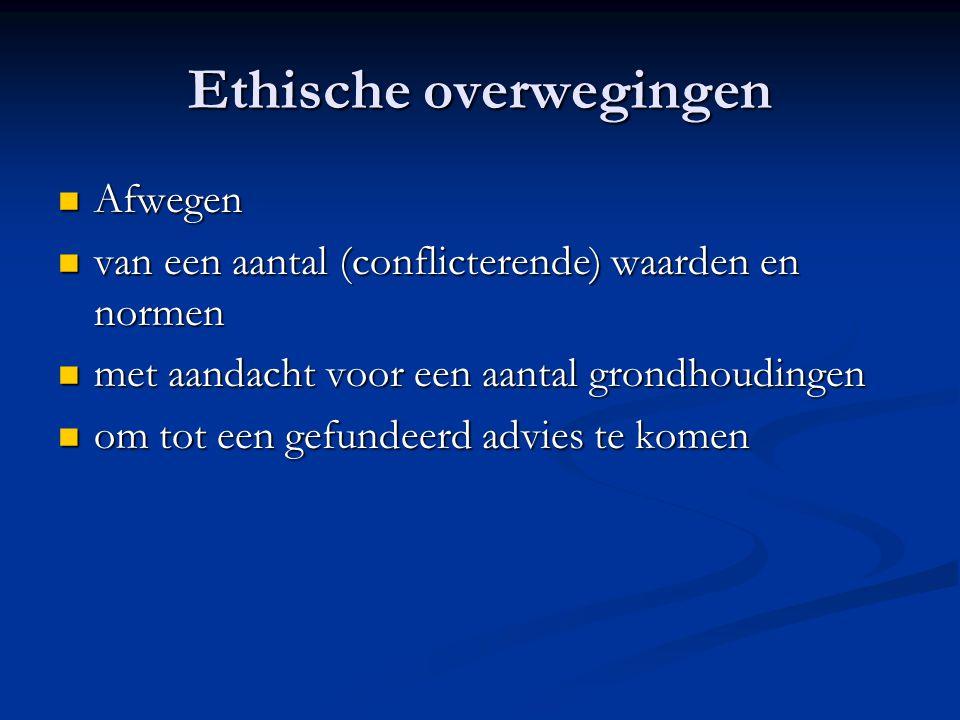 Ethische overwegingen