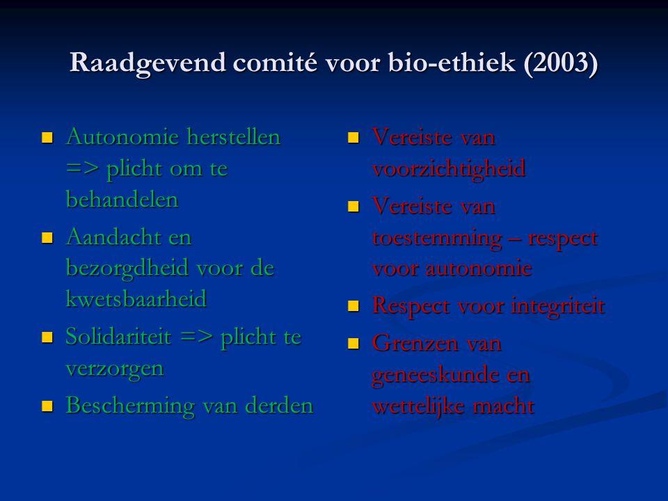Raadgevend comité voor bio-ethiek (2003)