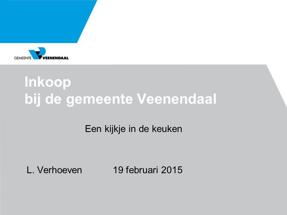 Inkoop bij de gemeente Veenendaal