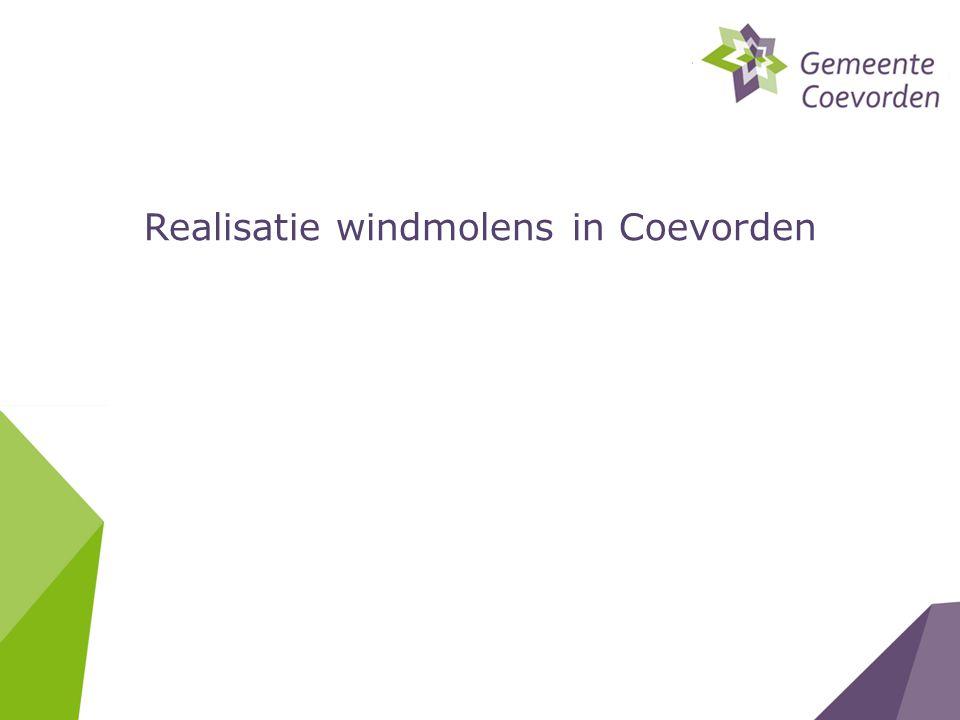 Realisatie windmolens in Coevorden