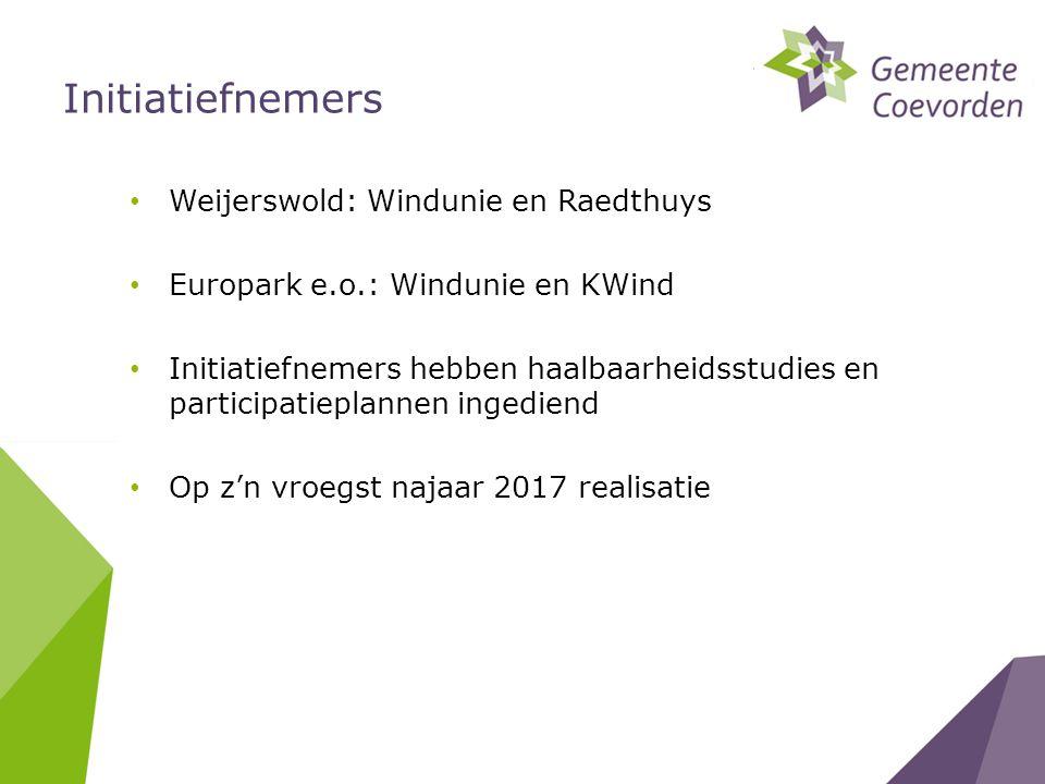 Initiatiefnemers Weijerswold: Windunie en Raedthuys