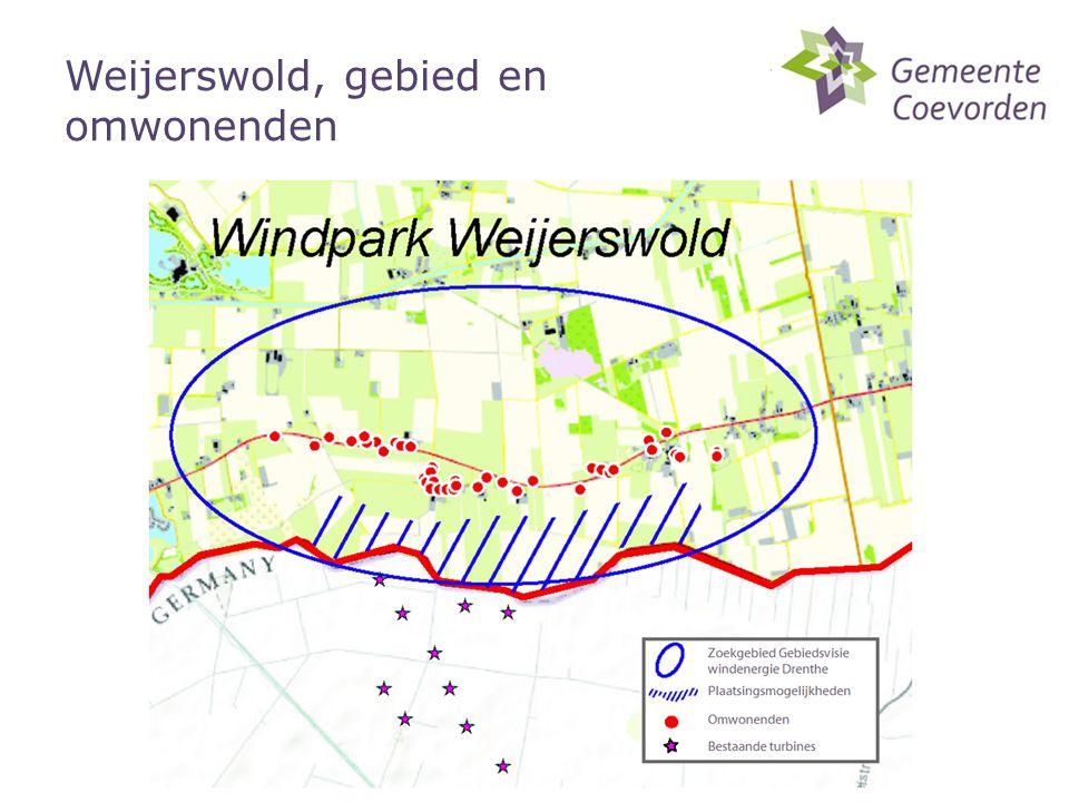 Weijerswold, gebied en omwonenden